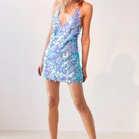 Motel Finn Sequin Mini Slip Dress - Urban Outfitters