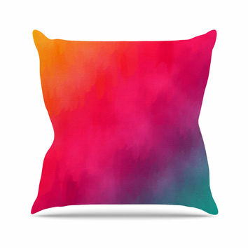 "Fotios Pavlopoulos ""Rainbow Loon"" Rainbow Abstract Throw Pillow"