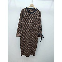 FENDI FF Knit Discount Puff Bow Dress