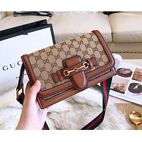 GUCCI Trending Women Stylish Shopping Leather Crossbody Satchel Shoulder Bag