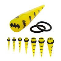 Body Jewelry Company | 6G - 1/2 Inch Batman Taper, Sold In Pairs