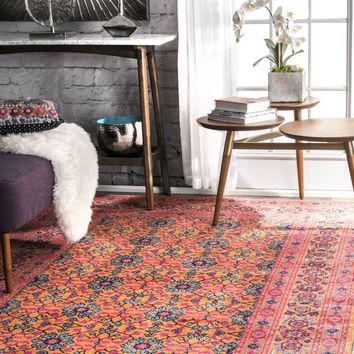 NuLOOM Vintage Mirella Rug Orange