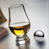 Glencairn Whiskey Glass and Stainless Steel Chilling Ball Set
