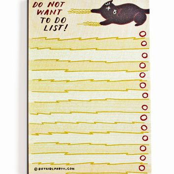 Black Cat To Do List - Angry Cat To Do List Notepad - Funny Cat Gift by boygirlparty