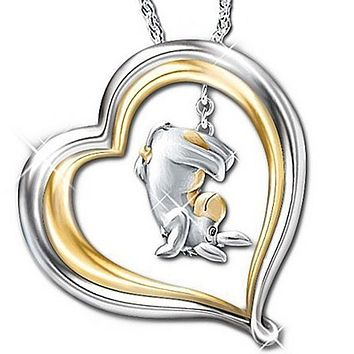 Exquisite Fashion Creative Women 925 Silver Cute Little Elephant Necklace Lovers Gift Fashion Accessories