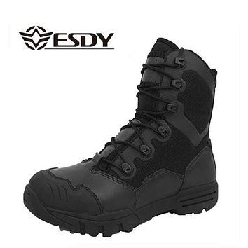 Winter Men Military Boots Leather Special Force Desert Tactical Combat Army Boots Men's Safty Work Shoes
