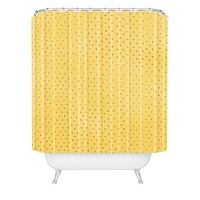 Allyson Johnson Sunny Yellow Dots Shower Curtain