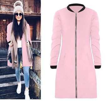 Zipped Blank Long Jacket