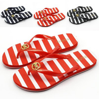 MK women's word drag flat beach with non slip summer comfortable foot slippers