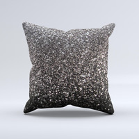 Black Unfocused Sparkle Ink-Fuzed Decorative Throw Pillow