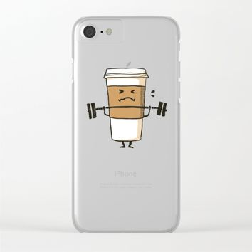 Strong Coffee Clear iPhone Case by Picomodi