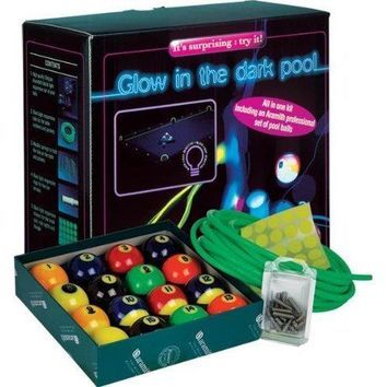 Aramith Glow in the Dark (Black Light) Billiard/Pool Table Kit with Complete 16 Ball Set