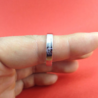 One Pair-Sliver Promise Rings Set. Engagement ring.Simple design