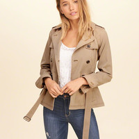 Girls Belted Trench Jacket | Girls Jackets & Outerwear | HollisterCo.com