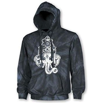 Yoga Clothing for You Adult Unisex Ganesha Tie Dye Hoodie
