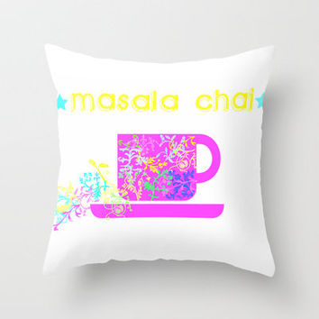 MASALA CHAI Throw Pillow by Sreetama Ray | Society6
