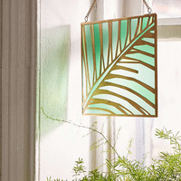 Evony Palm Stained Glass Window Hanging - Urban Outfitters