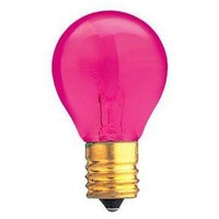 Bulbrite 702610 10W S11 Night Light Bulb, Intermediate Base, Transparent Pink