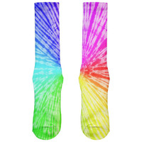 Rainbow Pride LGBT Tie Dye All Over Crew Socks