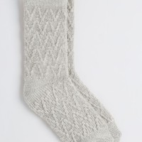 Gray Textured Knit Boot Socks | Socks | rue21