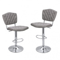 Joveco Modern Adjustable Swivel Bar Stools(set of two)