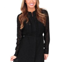 Misty Blues Dress In Black | Monday Dress Boutique