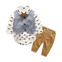 Baby Boy T-Shirt+Vest+ Pant Set