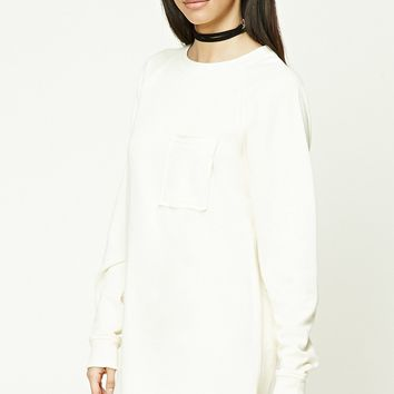 Raw-Cut Sweatshirt Dress