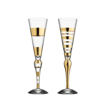 Clown Champagne Flute - Gold 2 Pack