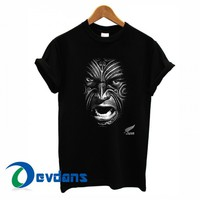 New Zealand All Blacks Rugby Face T-shirt men, women adult