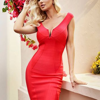 Kandice Off-The-Shoulder Bandage Dress at Guess