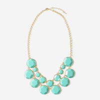 Turquoise Jewel Bib Necklace