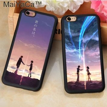 MaiYaCa Anime Your Name Kimi no Na wa Printed Soft Rubber Phone Case For Fundas iPhone 6 6S Plus 7 7 Plus 5 5S SE Back Cover