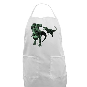 Jurassic Dinosaur Design 1 Adult Apron by TooLoud