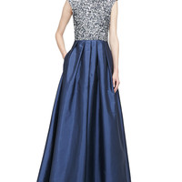 Women's Beaded Bodice Full-Skirt Combo Gown - Aidan Mattox - Twilight
