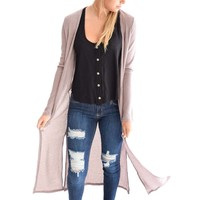 Always Dreaming Mauve Cardigan