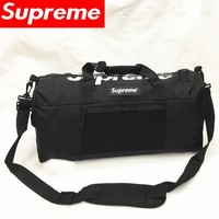 Supreme Large capacity round bucket bag travel bag Fitness  Satchel Handbag
