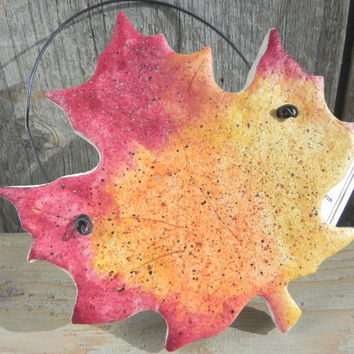 Salt Dough Leaf Ornament / Autumn Leaves Decor