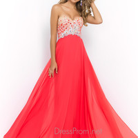 Two Tone Bodice Blush Prom Dress 9998