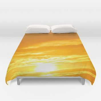 Μy Νeighborhood Sunset Duvet Cover by Azima
