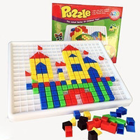 YIXIN 420 Pieces Mosaic Puzzle Intellect Toy Pegboard Jigsaw Puzzle Block Building Game for Kids Kindergarten Educational Toys for kid over 3 years old