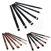 6 PCS Makeup Cosmetic Brushes Powder Eye Shadow Lipstick Liner Brush Set Kit