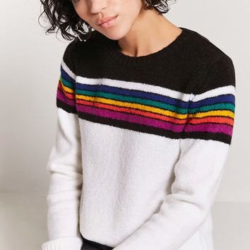 Rainbow-Stripe Sweater