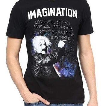 Einstein I'm With Stupid Black Half Sleeve Men