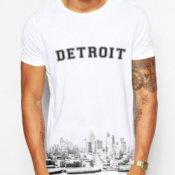 Distinkt Youth Detroit Skyline Crew Neck Tshirt