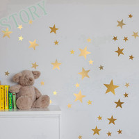 Gold stars wall stickers Kids Rooms  Decoration