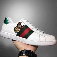 GUCCI Embroidered Cat and Dog Totem Fashion Sports Shoes F-CSXY