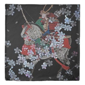 Samurai Queen Size Duvet Cover