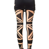 The Flag Tights in Black