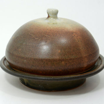 Butter Dish, Handmade , Handmade pottery ceramic butter dish with lid.